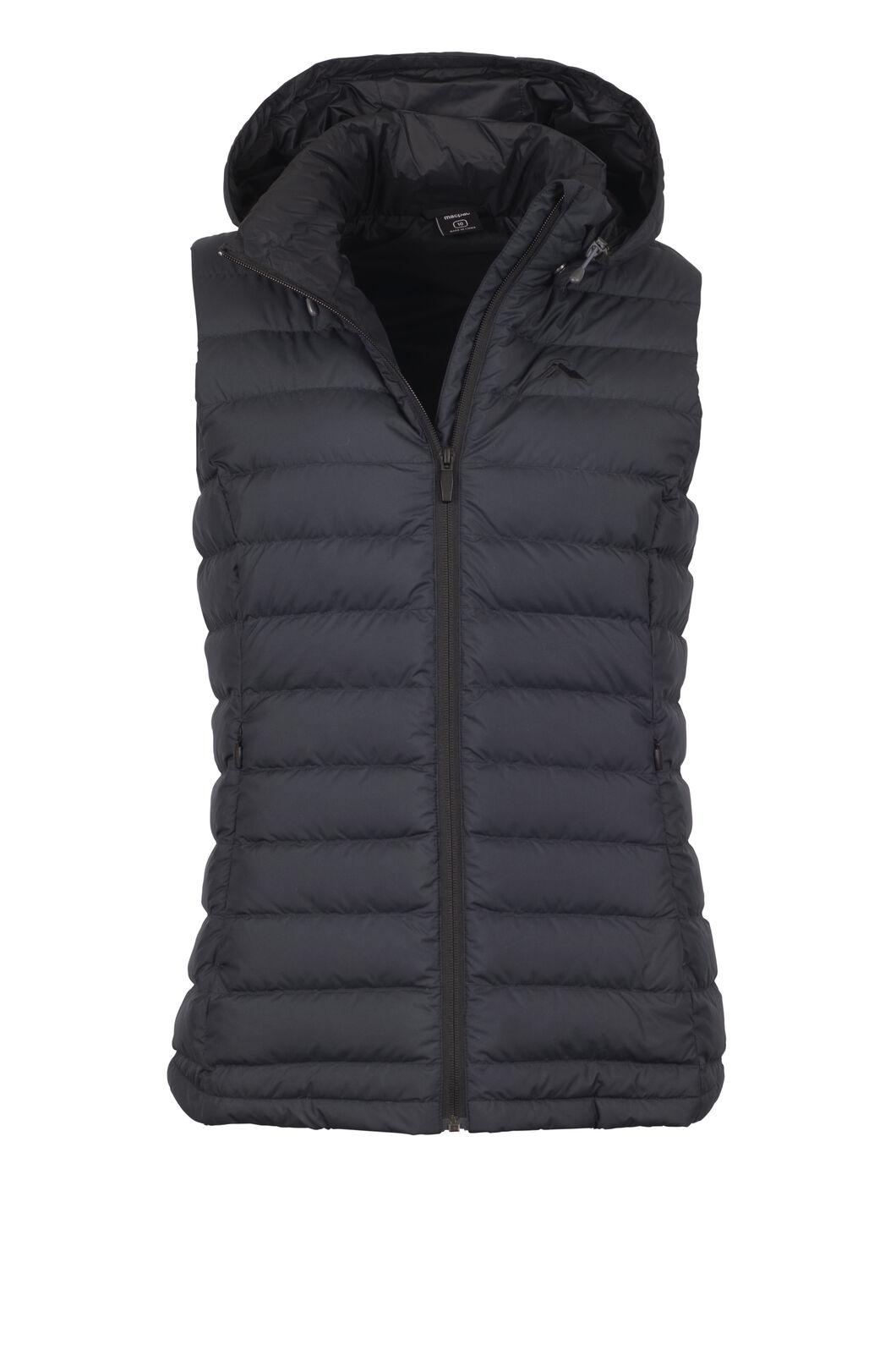 Macpac Zodiac Hooded Down Vest - Women's, Black, hi-res
