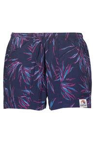 Macpac Winger Shorts — Women's, Black Iris Print, hi-res