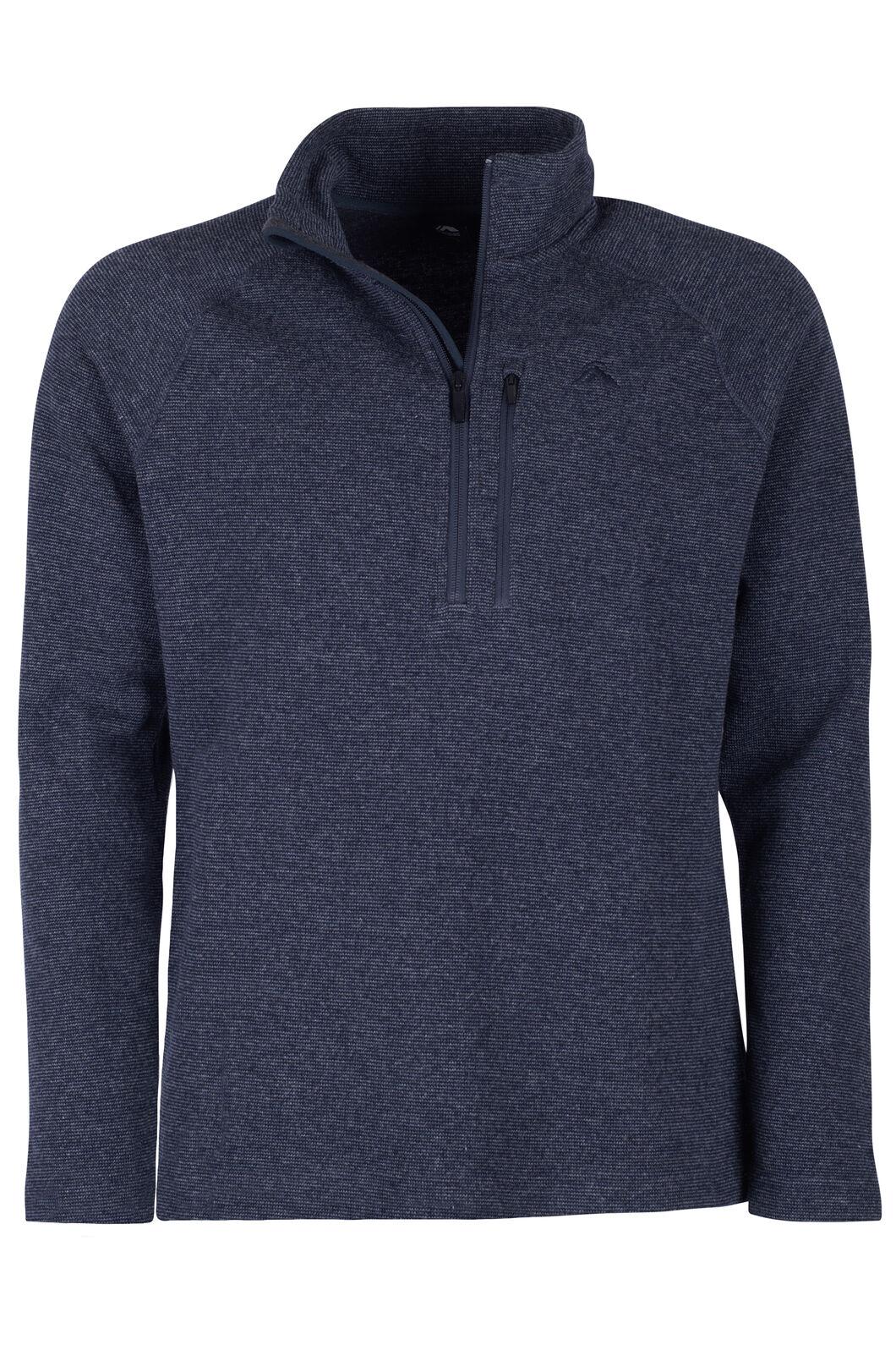 Macpac Guyon Half Zip Pullover — Men's, Navy Melange, hi-res