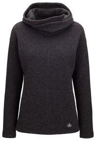 Macpac Women's Mahia Pontetorto® Wool Blend Pullover, Charcoal Marle, hi-res