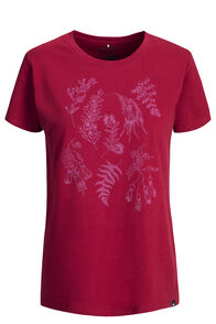 Macpac Botanist Fairtrade Organic Cotton Tee — Women's, Tibetan Red, hi-res