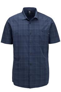 Macpac Men's Travel Lite Short Sleeve Shirt, Black Iris Check, hi-res