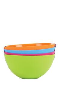 Plastic Bowls 4 Pack, None, hi-res