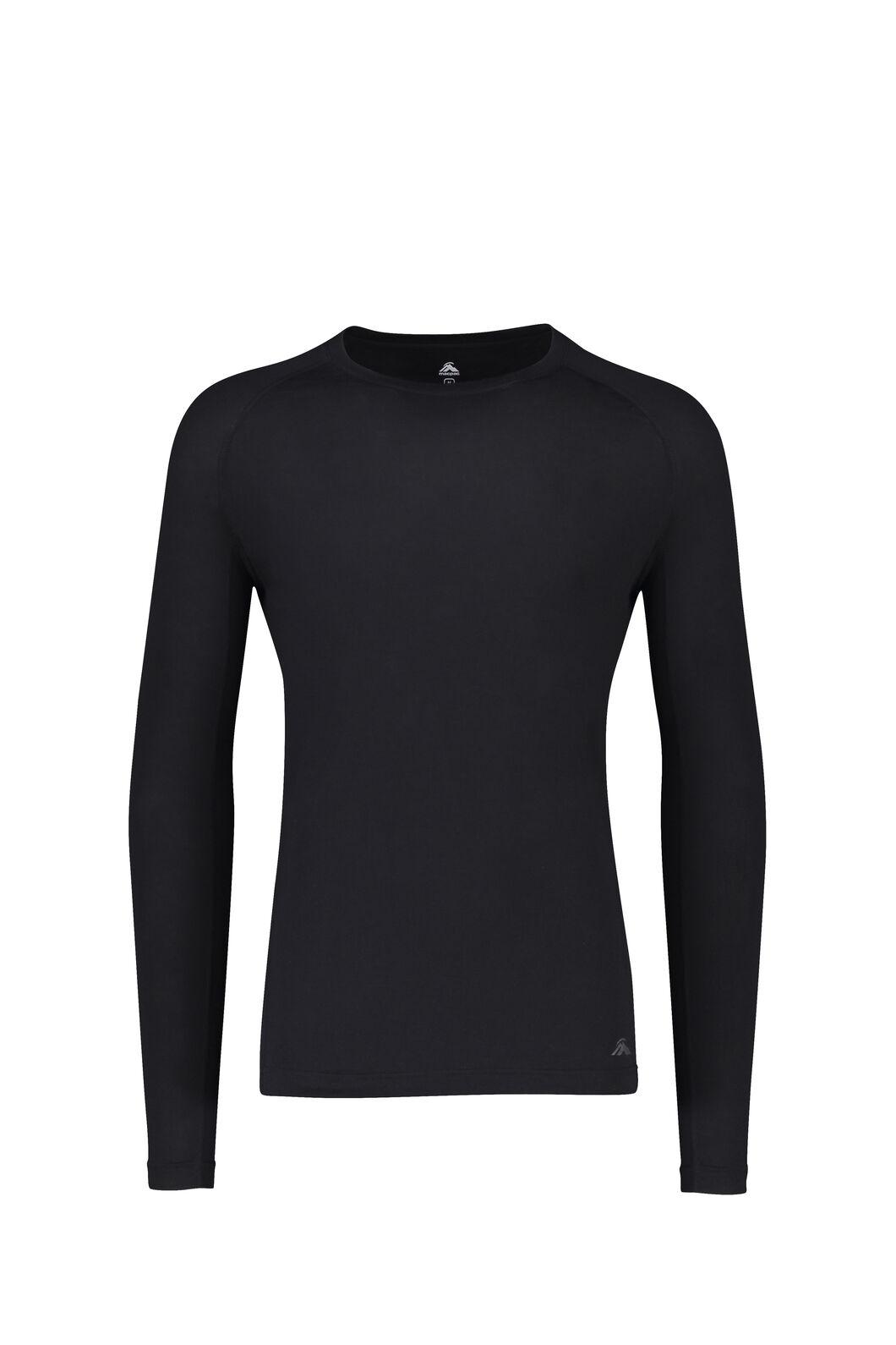 Macpac 150 Merino Long Sleeve Top - Men's, Black, hi-res
