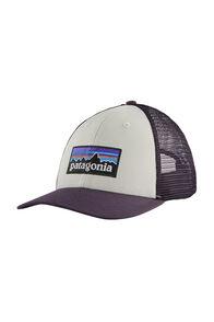 Patagonia P-6 Logo LoPro Trucker Cap, White/Piton Purple, hi-res