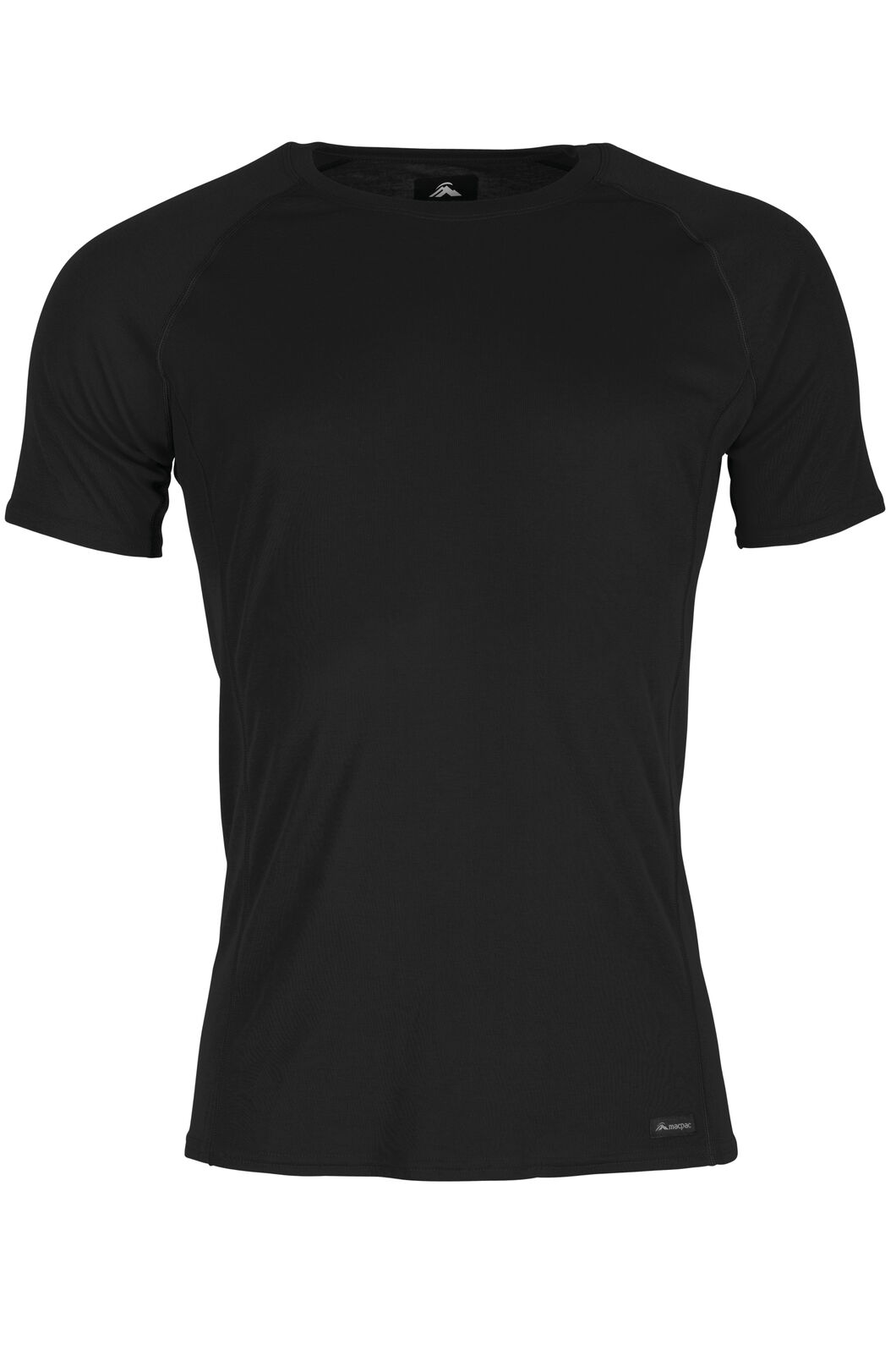 Macpac Geothermal Short Sleeve Top - Men's, Black, hi-res