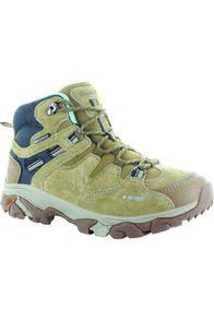 Hi-Tec Ravus Adventure Mid WP Boots — Women's, Tan/Black/Aquifer, hi-res