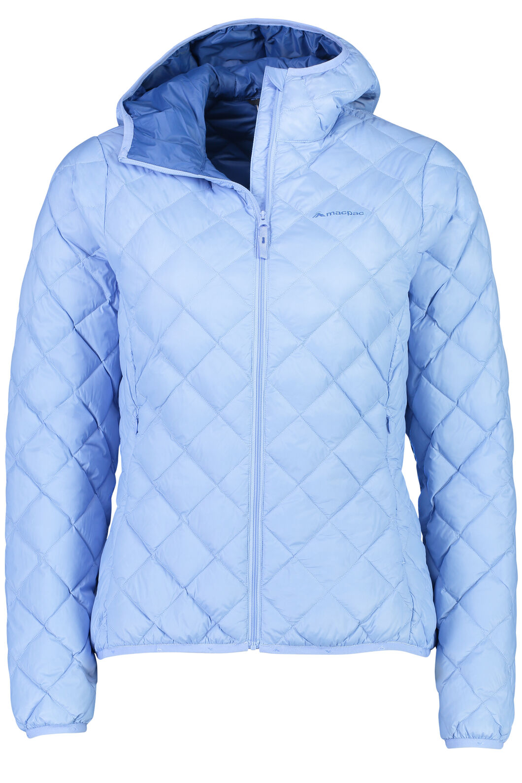 Macpac Uber Light Hooded Down Jacket - Women's, Bright Cobalt/Vista Blue, hi-res