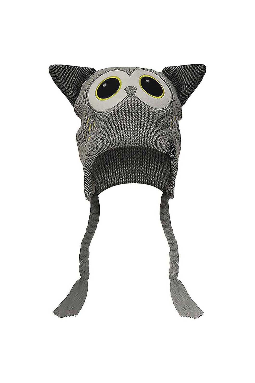Zoolander Kids' Teethy Beanie  One Size Fits Most, OWL GREY, hi-res