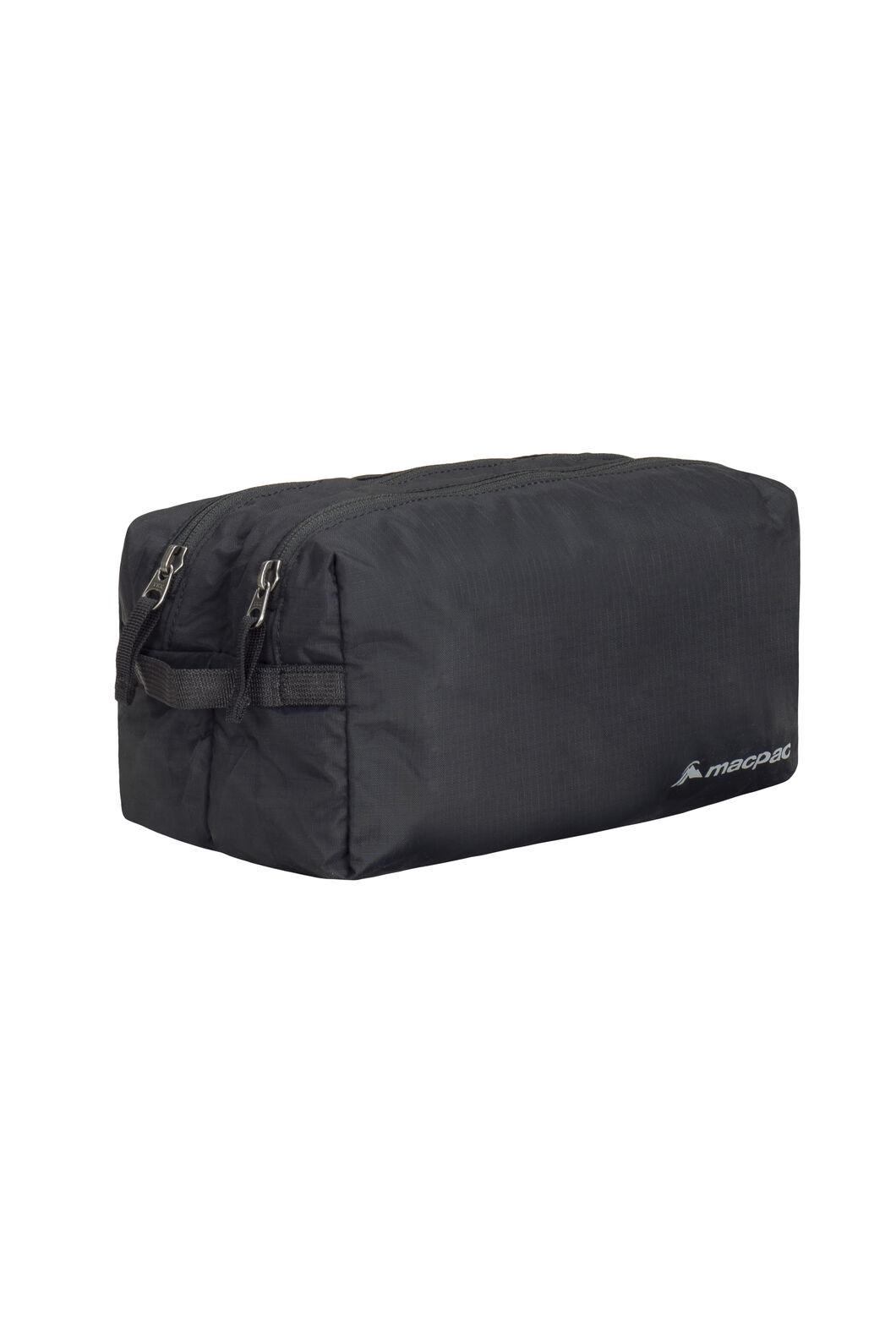 Macpac Double or Nothing Washbag, Black, hi-res