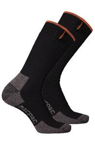Macpac Thermal Socks 2 Pack, Black/Black, hi-res