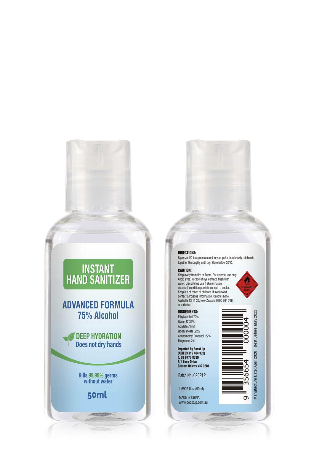 Boost Up Hand Sanitiser — 50 ml, None, hi-res