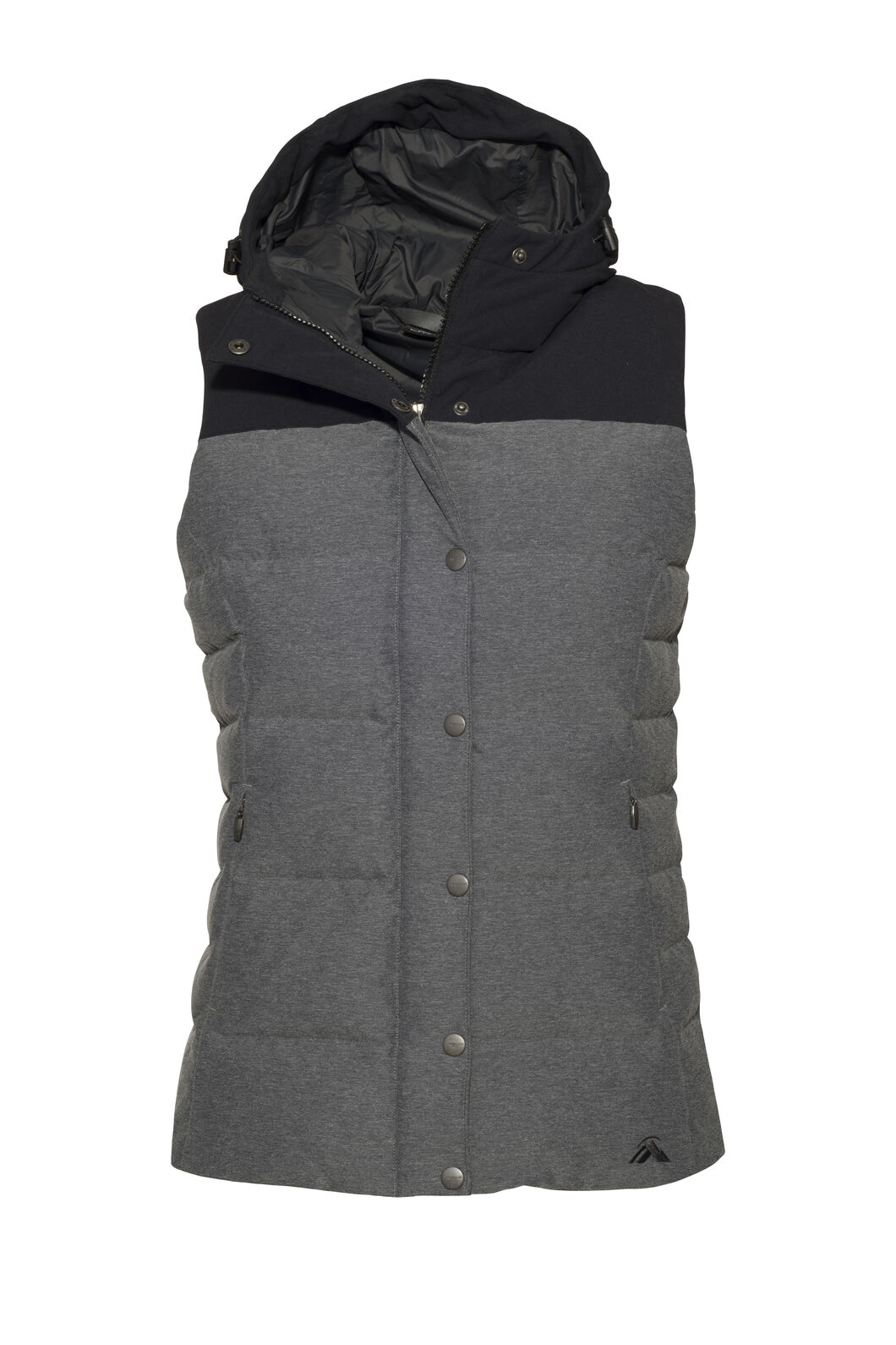 Macpac Umbra Hooded Down Vest — Women's, Black, hi-res