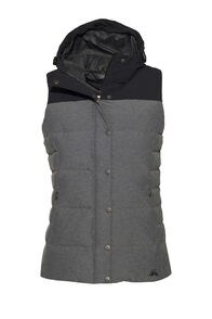 Macpac Umbra Hooded Down Vest — Women's, Black, hi-res
