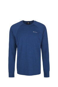 Macpac Take a Hike Long Sleeve Top - Men's, True Blue/Medieval, hi-res