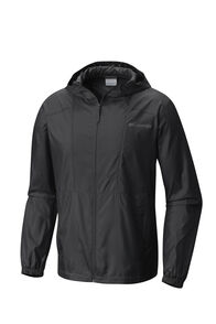 Columbia Men's Flashback Windbreaker Jacket, Black, hi-res