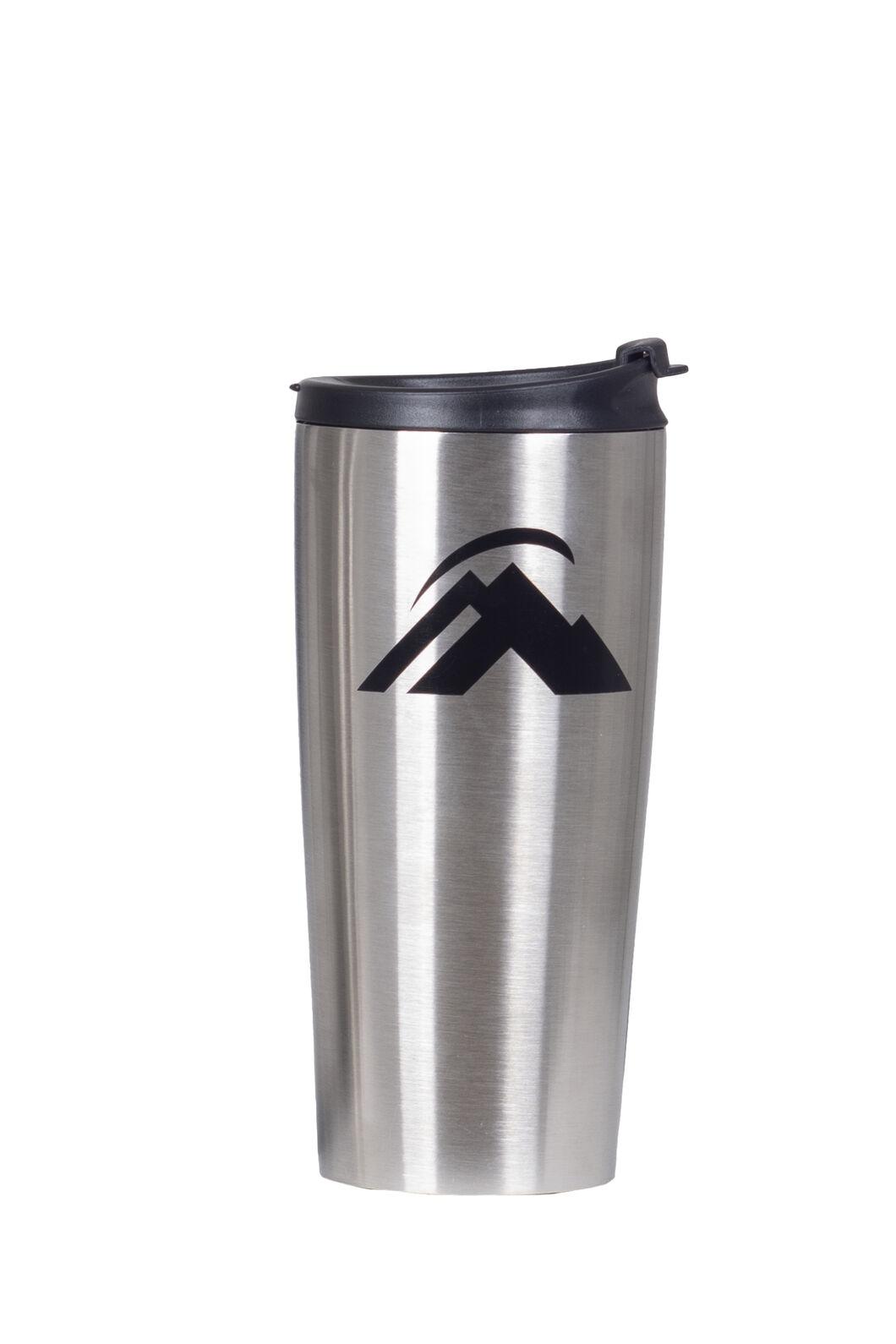 Macpac Stainless Steel Coffee Mug, Silver/Black, hi-res