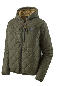 Patagonia Men's Diamond Quilted Bomber Hoody, Industrial Green, hi-res