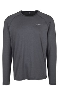 Macpac Eyre Long Sleeve Tee — Men's, Black, hi-res