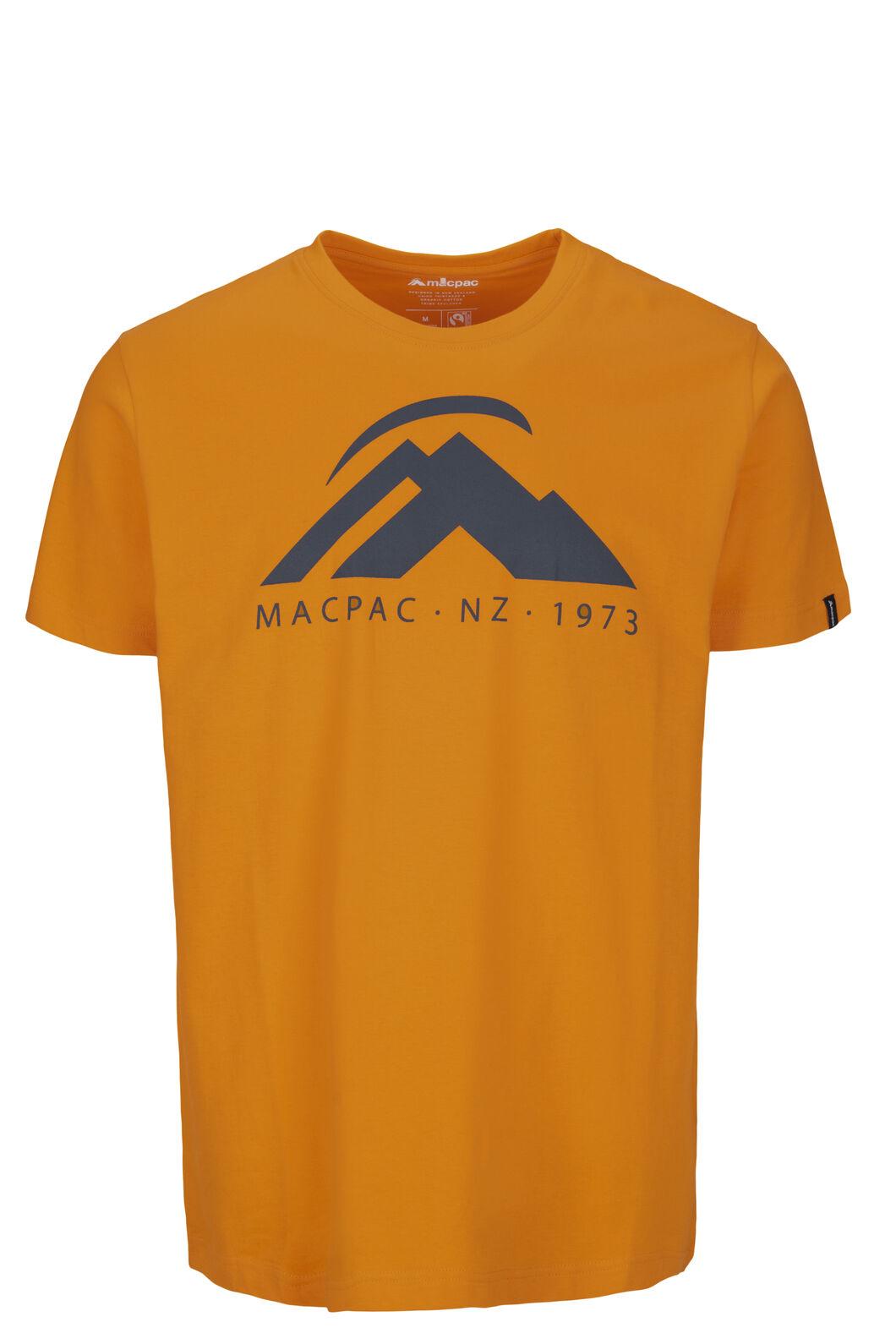 Macpac Mountain Fairtrade Organic Cotton Tee — Men's, Cadmium Yellow, hi-res