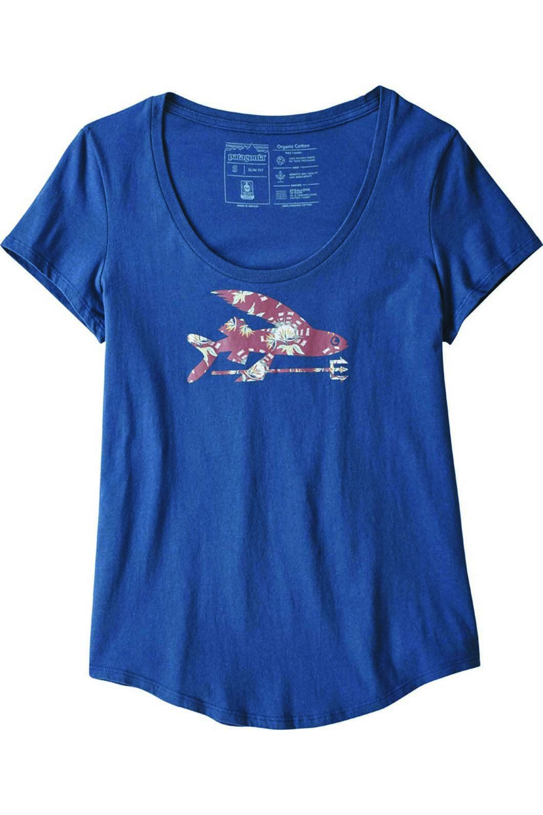 Patagonia Women's Flying Fish Scope Organic Tee Stone, STONE BLUE, hi-res