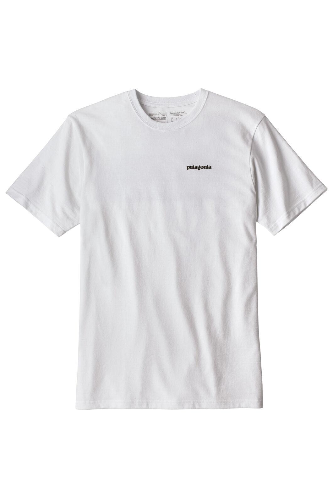 Patagonia M's P6 Logo Tee, White, hi-res
