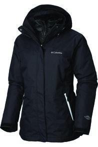 Columbia Women's Bugaboo II Insulated Interchange Jacket, Black/White, hi-res