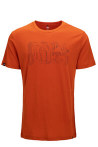 Macpac Gear 180 Merino Tee — Men's, Orange Flame, hi-res