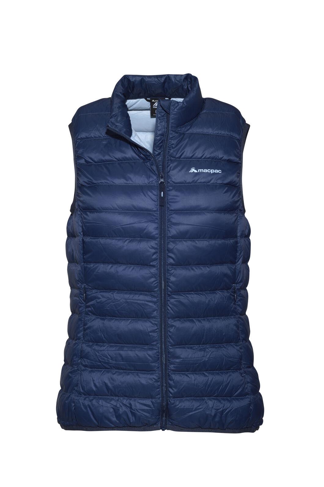 Macpac Uber Light Down Vest — Women's, Black Iris/Blue Fog, hi-res