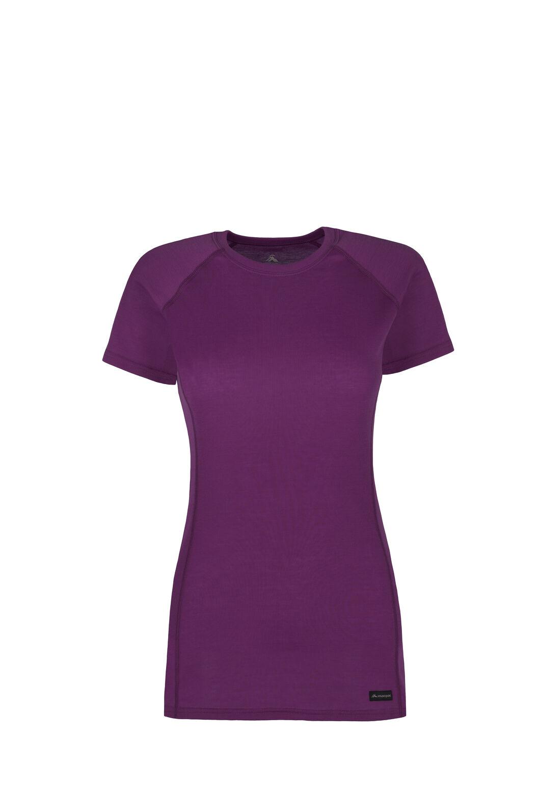 Macpac Geothermal Short Sleeve Top — Women's, Dahlia, hi-res