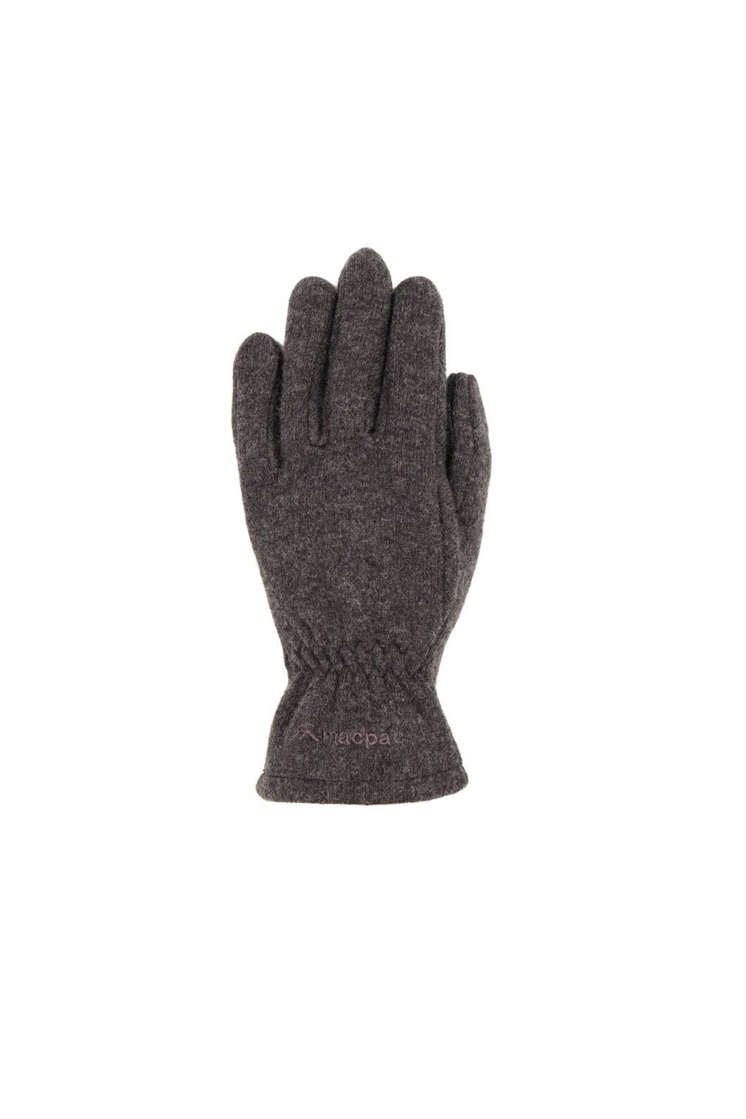 Macpac Tech Wool Gloves, Charcoal, hi-res