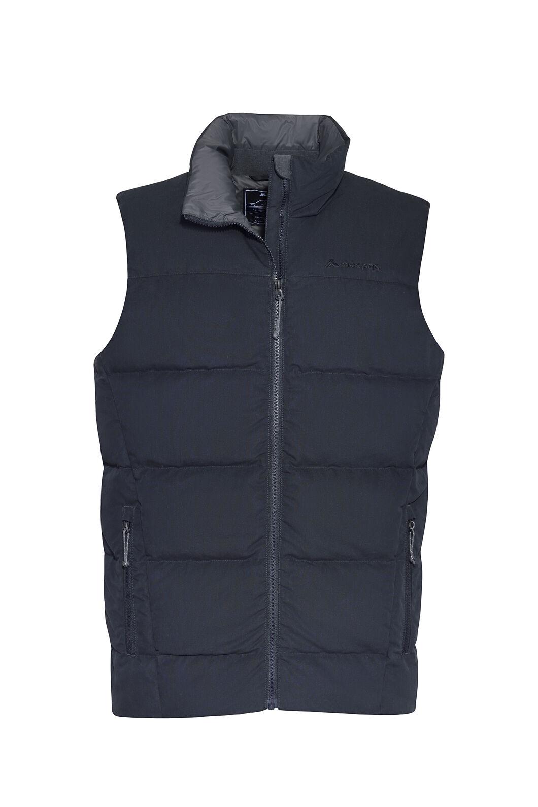 Macpac Fusion Down Vest — Men's, Carbon, hi-res
