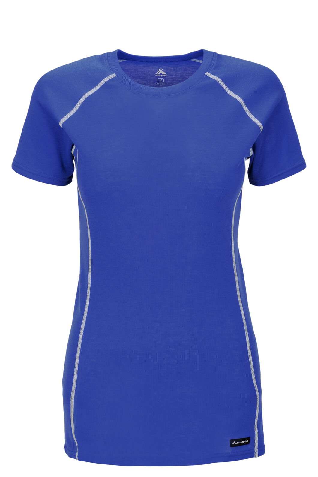 Macpac Geothermal Short Sleeve Tee — Women's, Dazzling Blue, hi-res