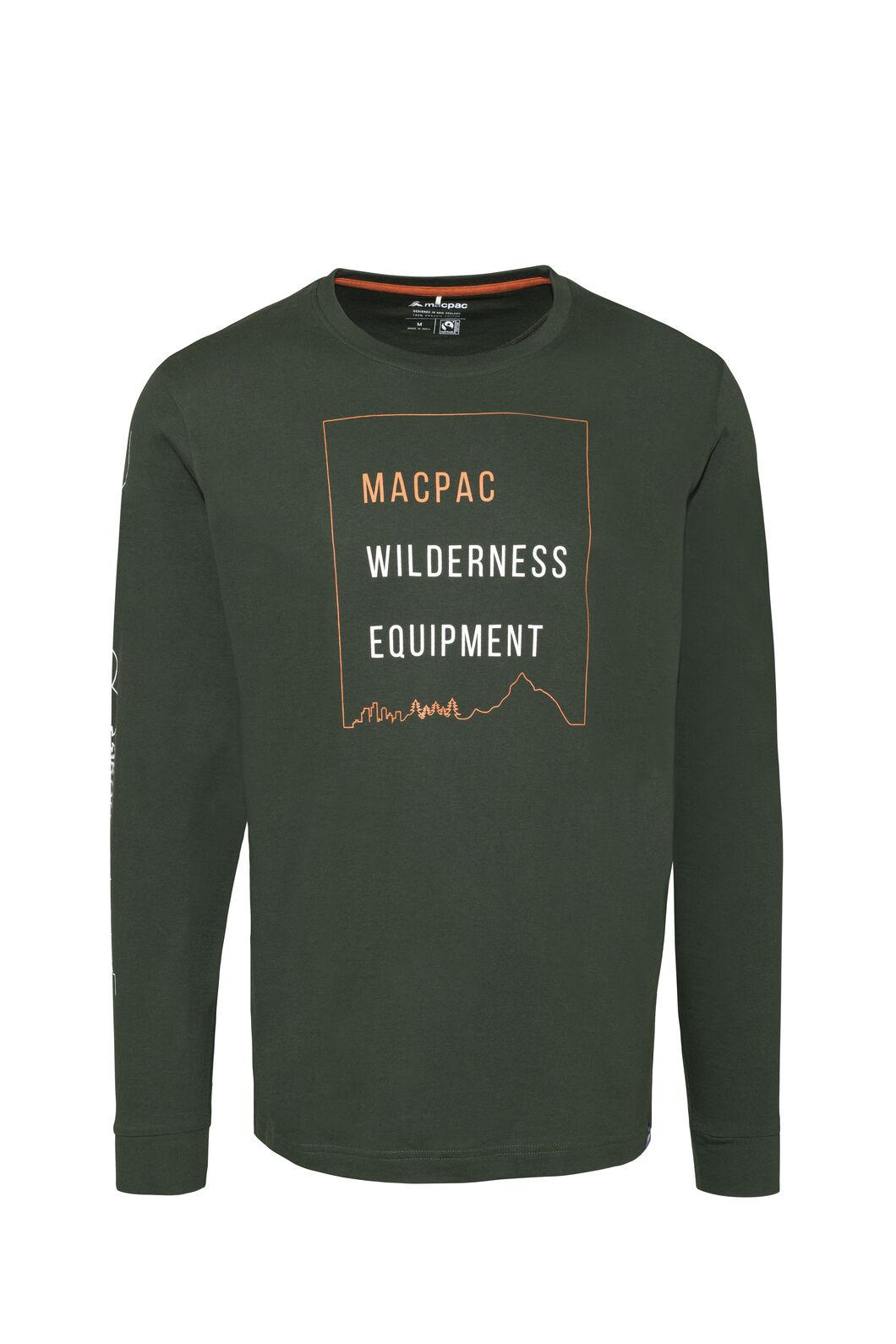 Macpac Wilderness Equipment Fairtrade Organic Cotton Long Sleeve Tee — Men's, Kombu Green, hi-res