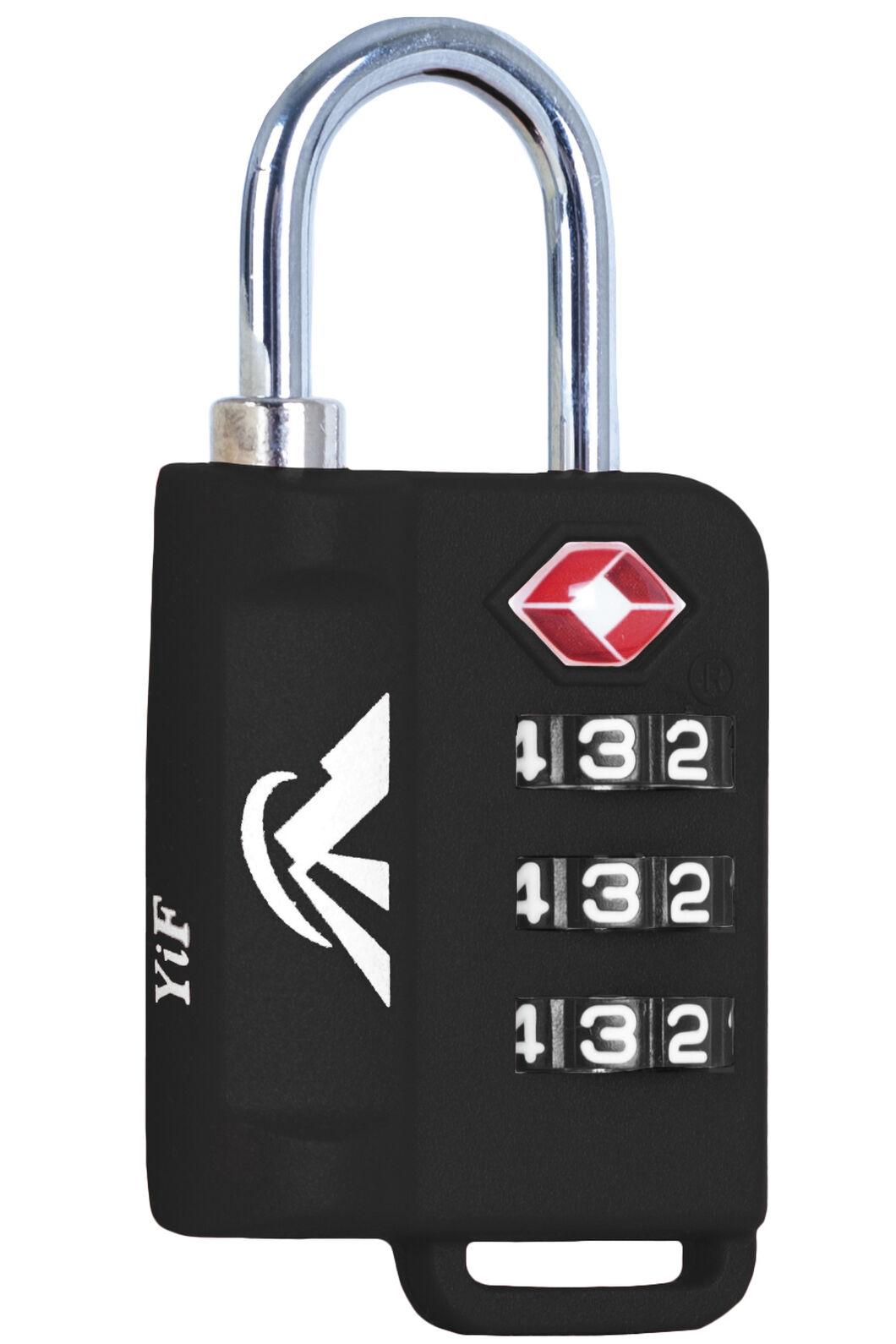 Macpac TSA Indicator Lock, Black, hi-res