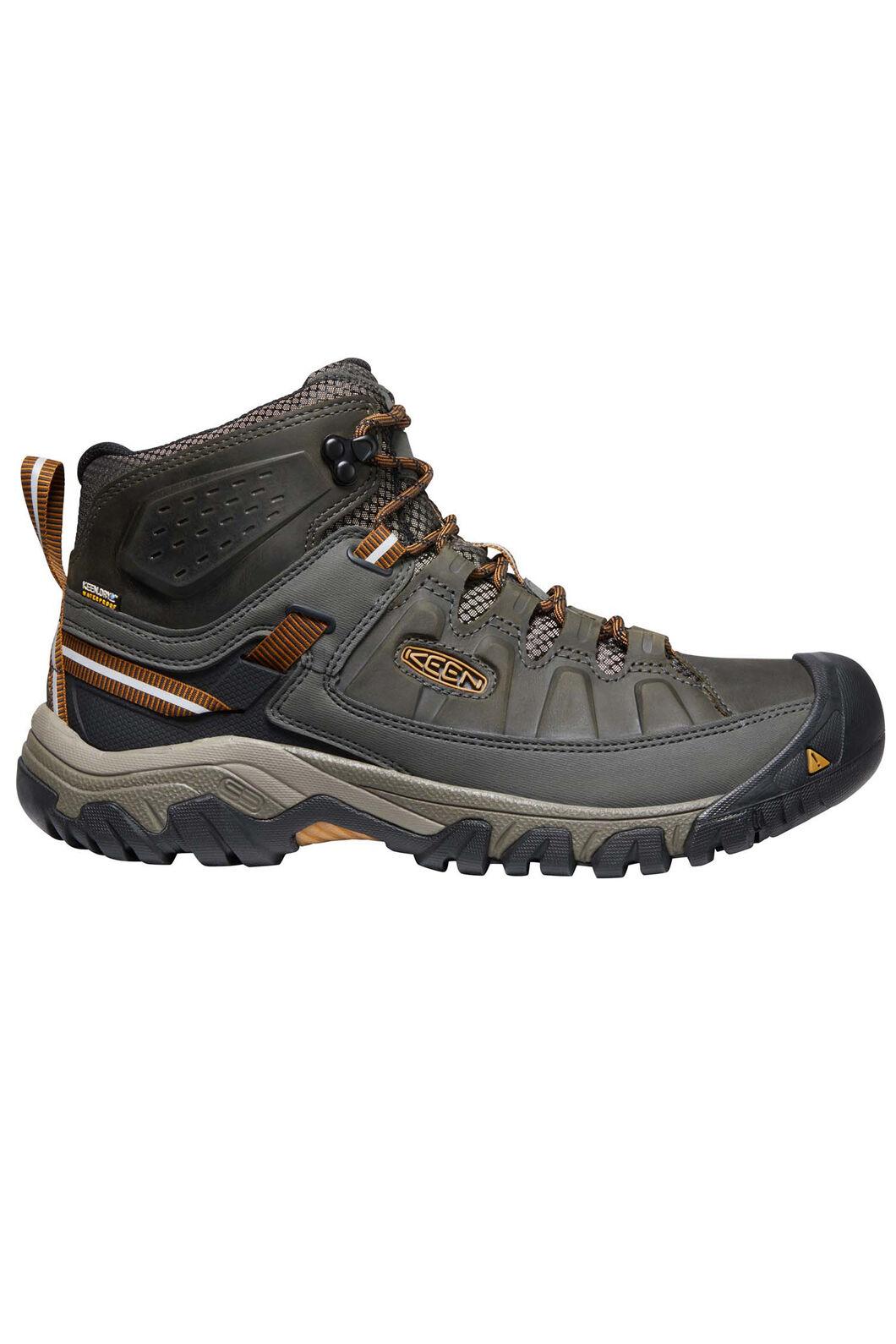 KEEN Men's Targhee III Mid WP Hiking Boots, Black Olive/Golden Brown, hi-res
