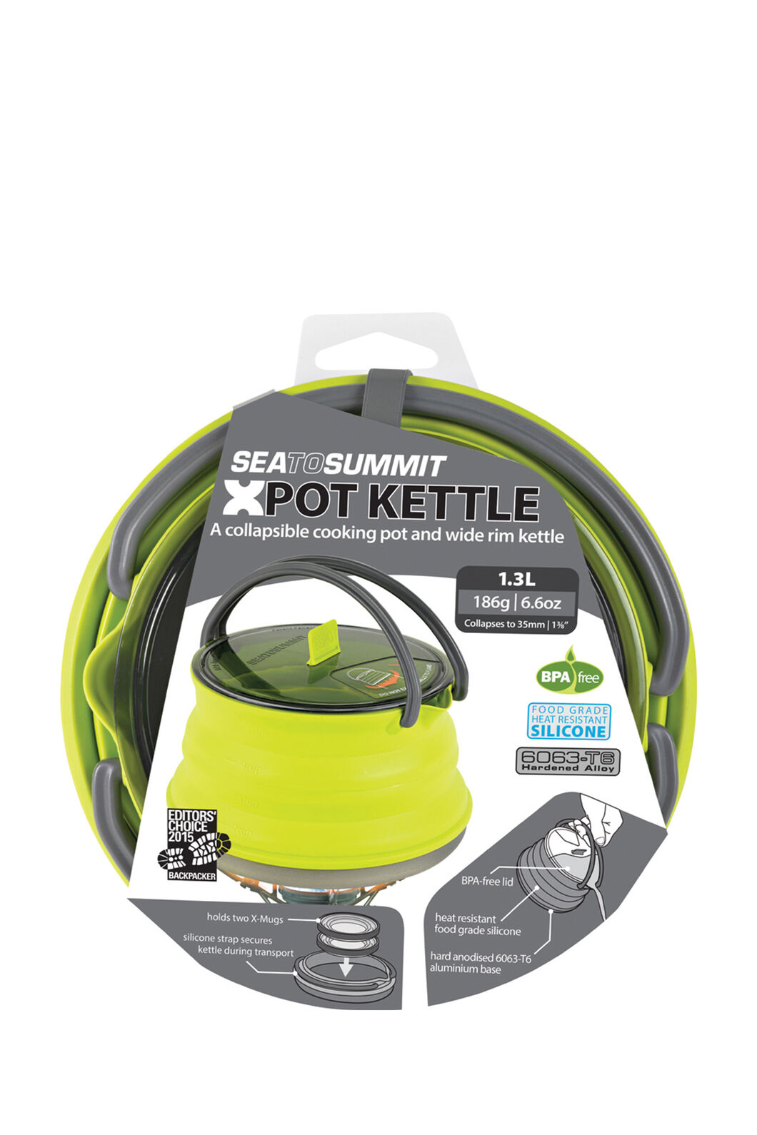Sea to Summit 1.3L X-Series Kettle, None, hi-res
