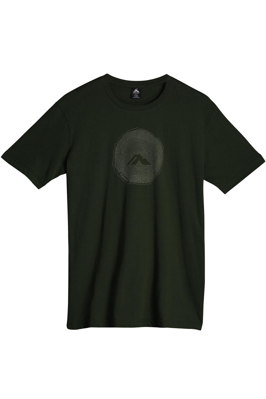 Sawcut Organic Cotton T-Shirt - Men's, Kombu Green, hi-res