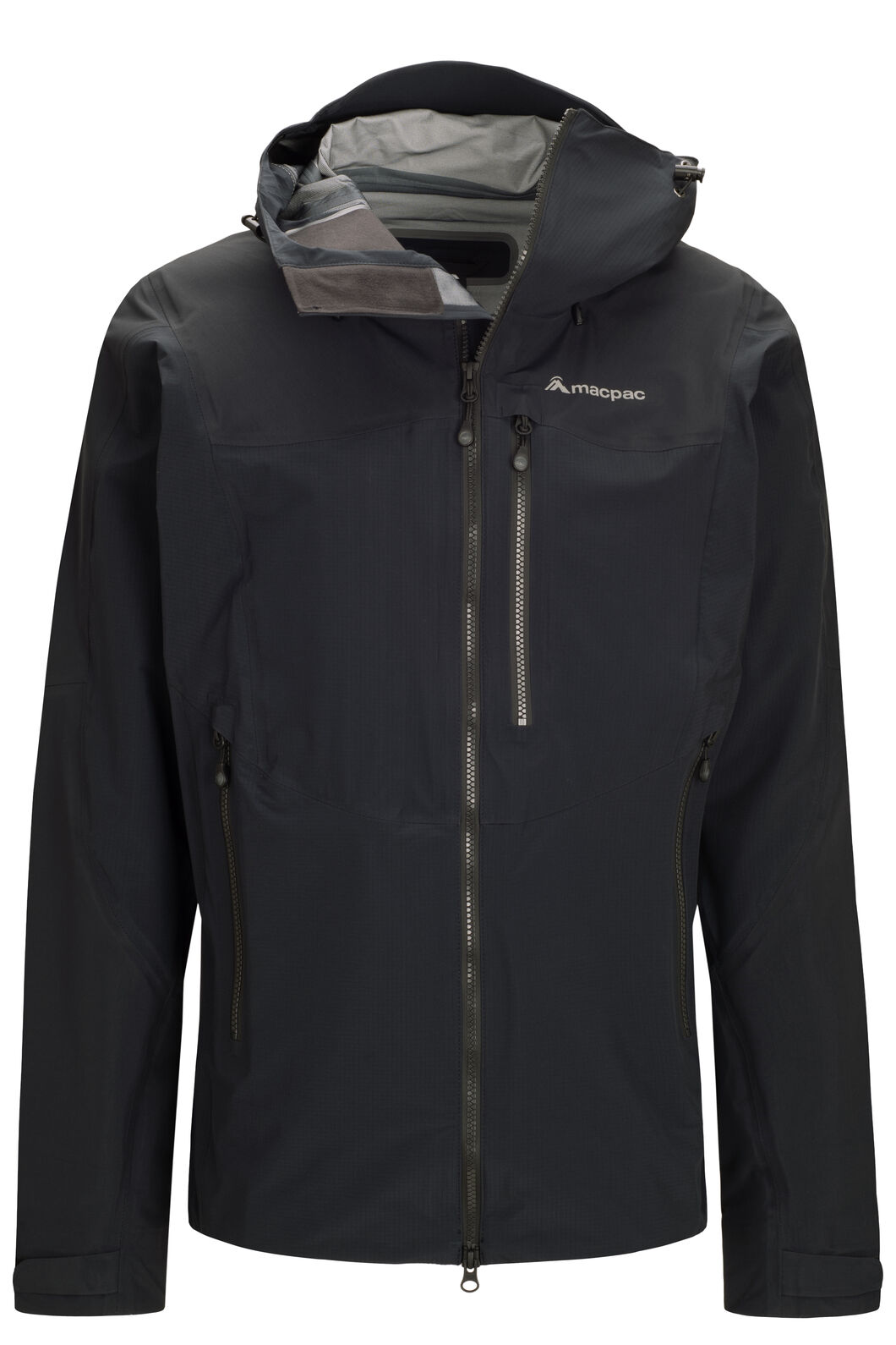 Macpac Lightweight Prophet Pertex® Rain Jacket — Men's, Black/Black, hi-res