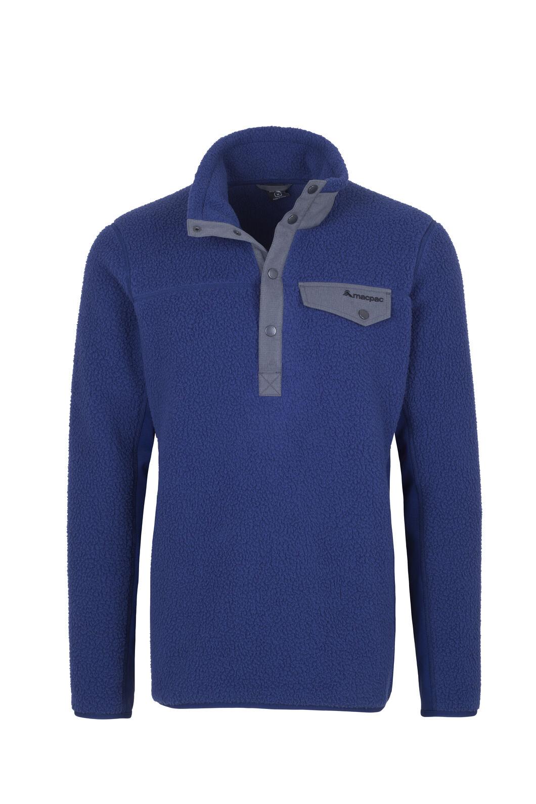 Macpac Haast Sherpa Fleece - Men's, Medieval Blue, hi-res