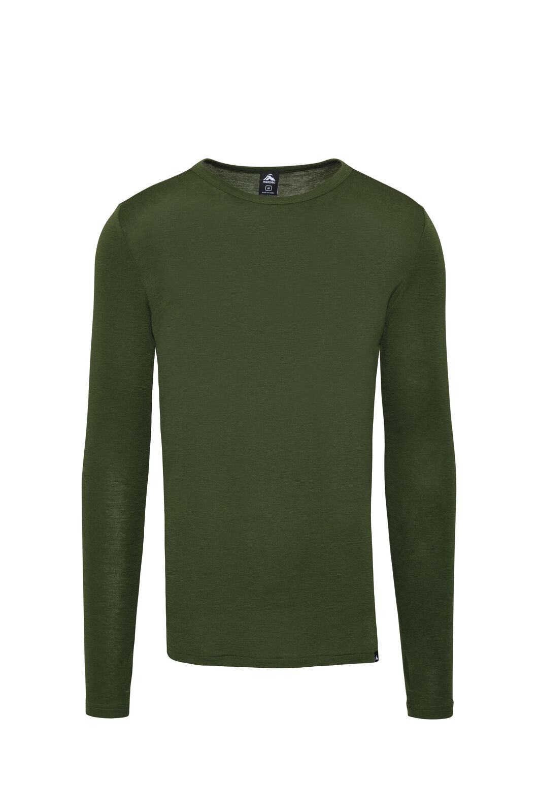 Macpac 220 Merino Long Sleeve Top — Men's, Chive, hi-res