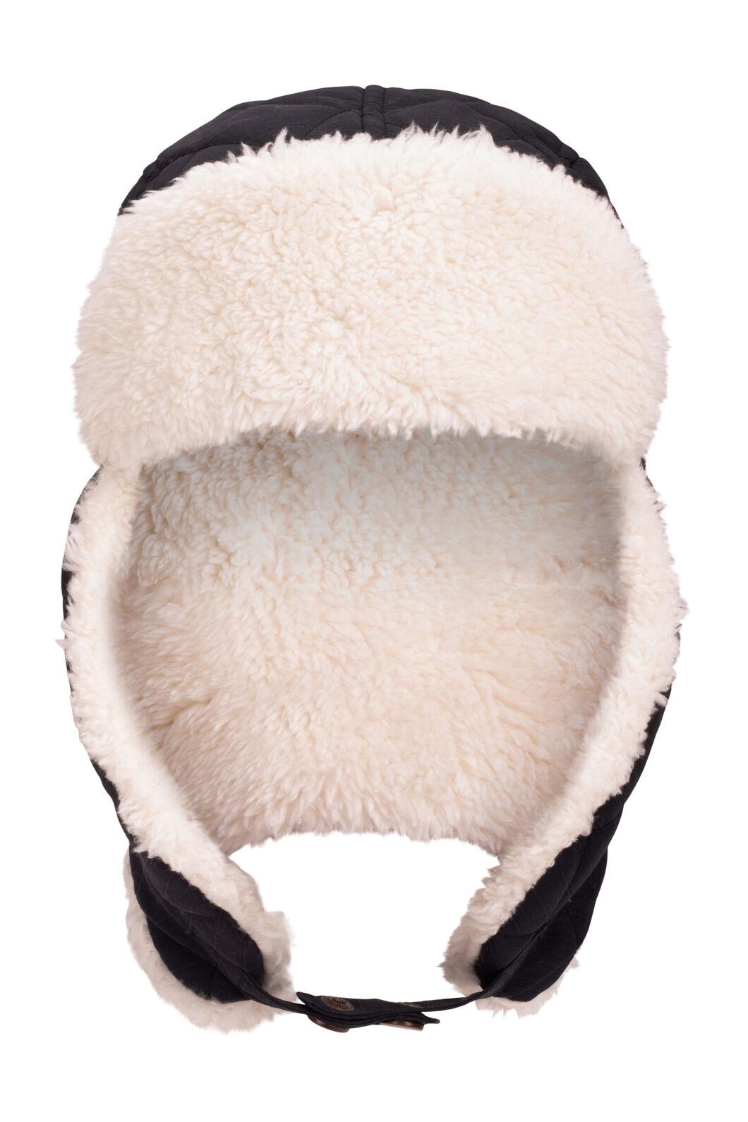 Macpac Winter Quilted Hat, Black, hi-res