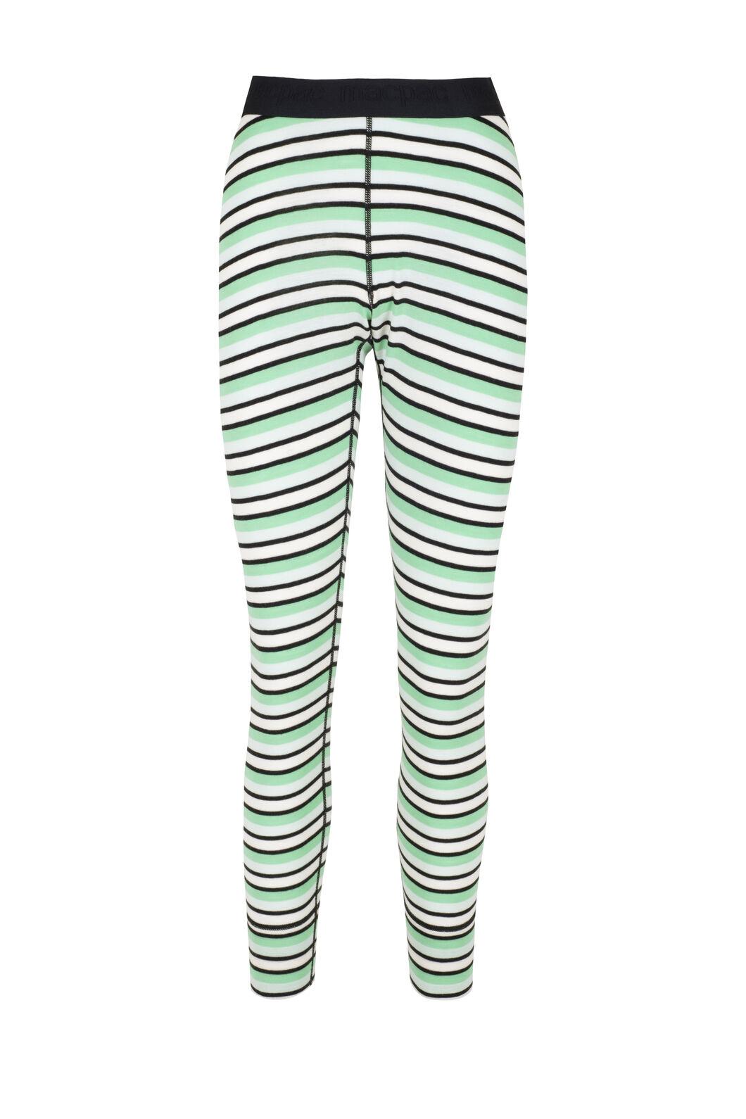 Macpac 220 Merino Long Johns - Women's, Misty Jade/Katydid Stripe, hi-res