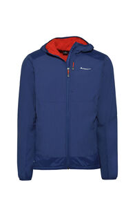 Macpac Pisa Polartec® Hooded Jacket — Men's, Blueprint/Flame, hi-res