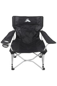 Macpac Event Quad Folding Chair, Black, hi-res