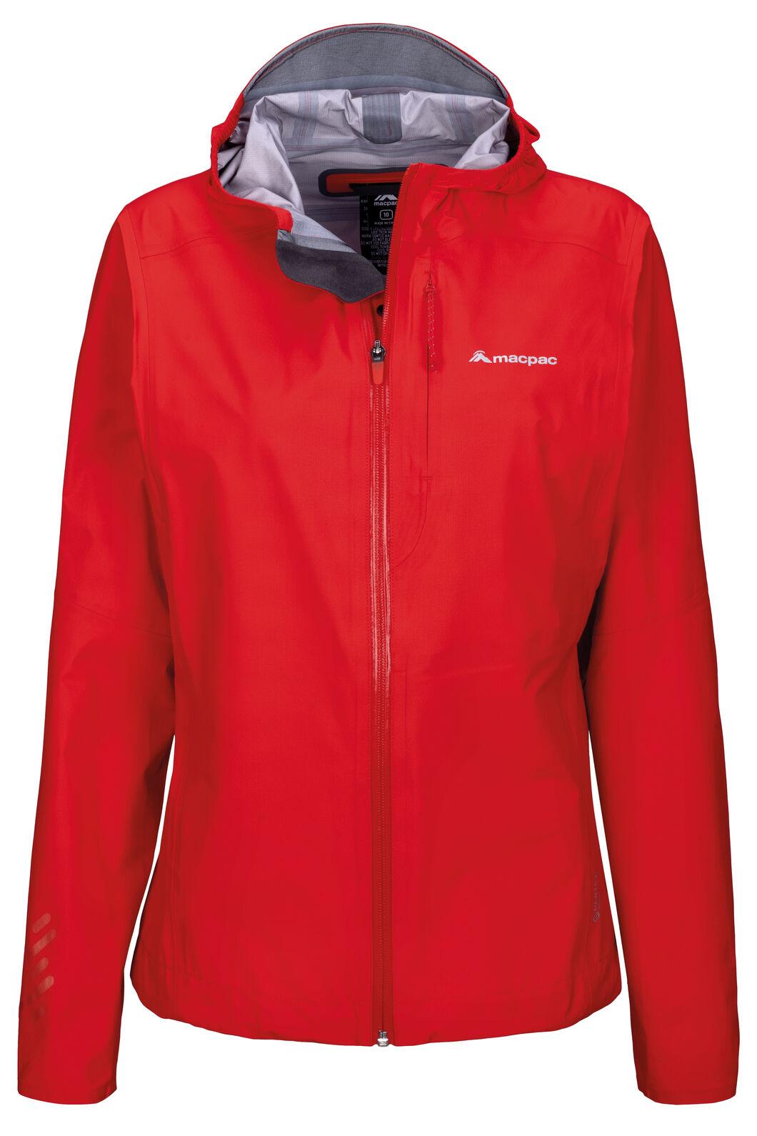 Macpac Women's Tempo Pertex® Rain Jacket, Fiery Red, hi-res