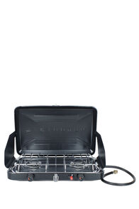 Wanderer 2 Burner LPG Portable Stove with Drip Tray, None, hi-res