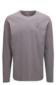 Macpac Men's Since 1973 Fairtrade Organic Cotton Long Sleeve Tee, Grey Marle, hi-res