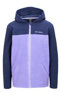 Macpac Tui Polartec® Fleece Jacket — Kids', Black Iris/Aster Purple, hi-res