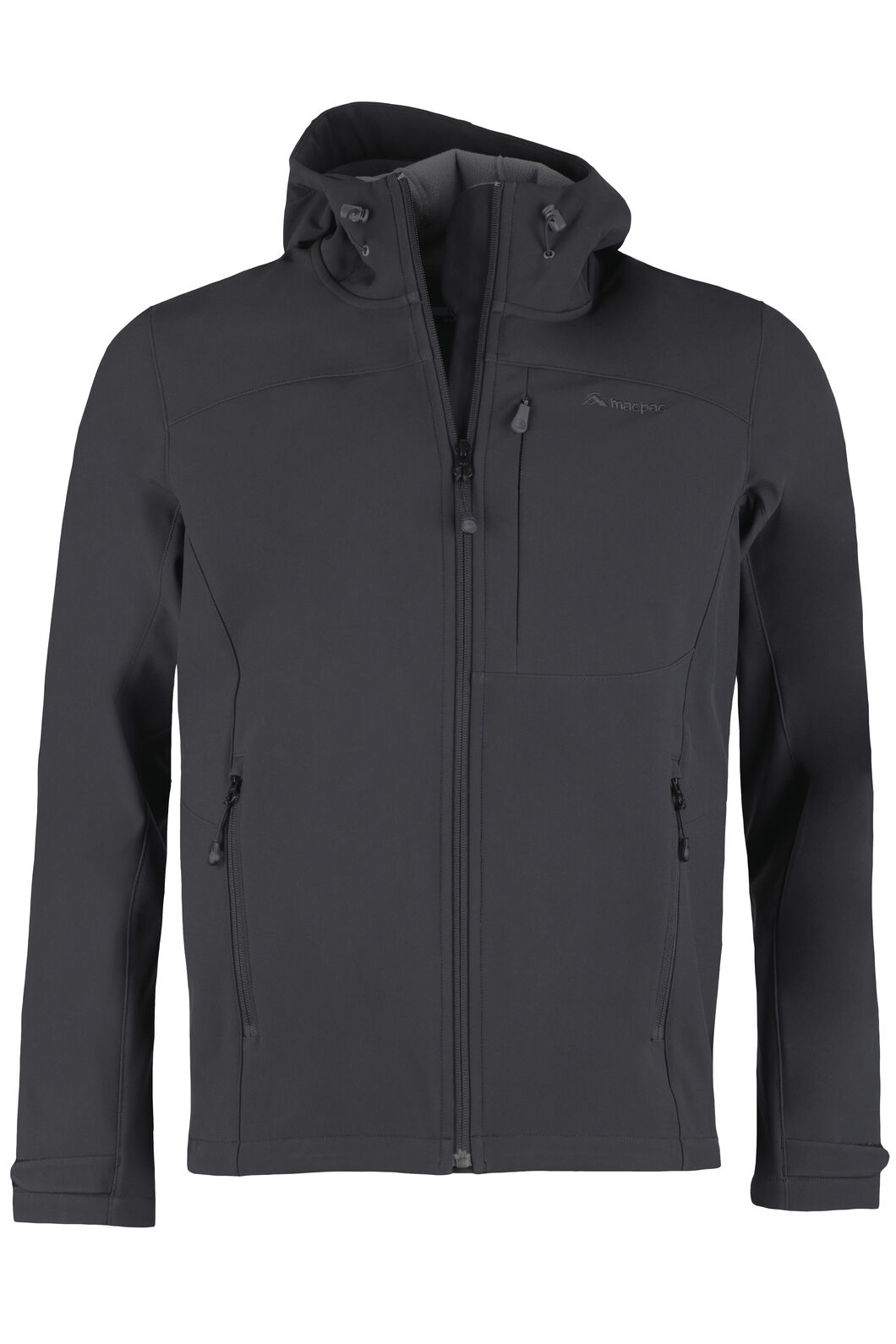Sabre Hooded Softshell Jacket - Men's, Black, hi-res